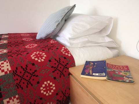 Beautiful Welsh blankets on every bed