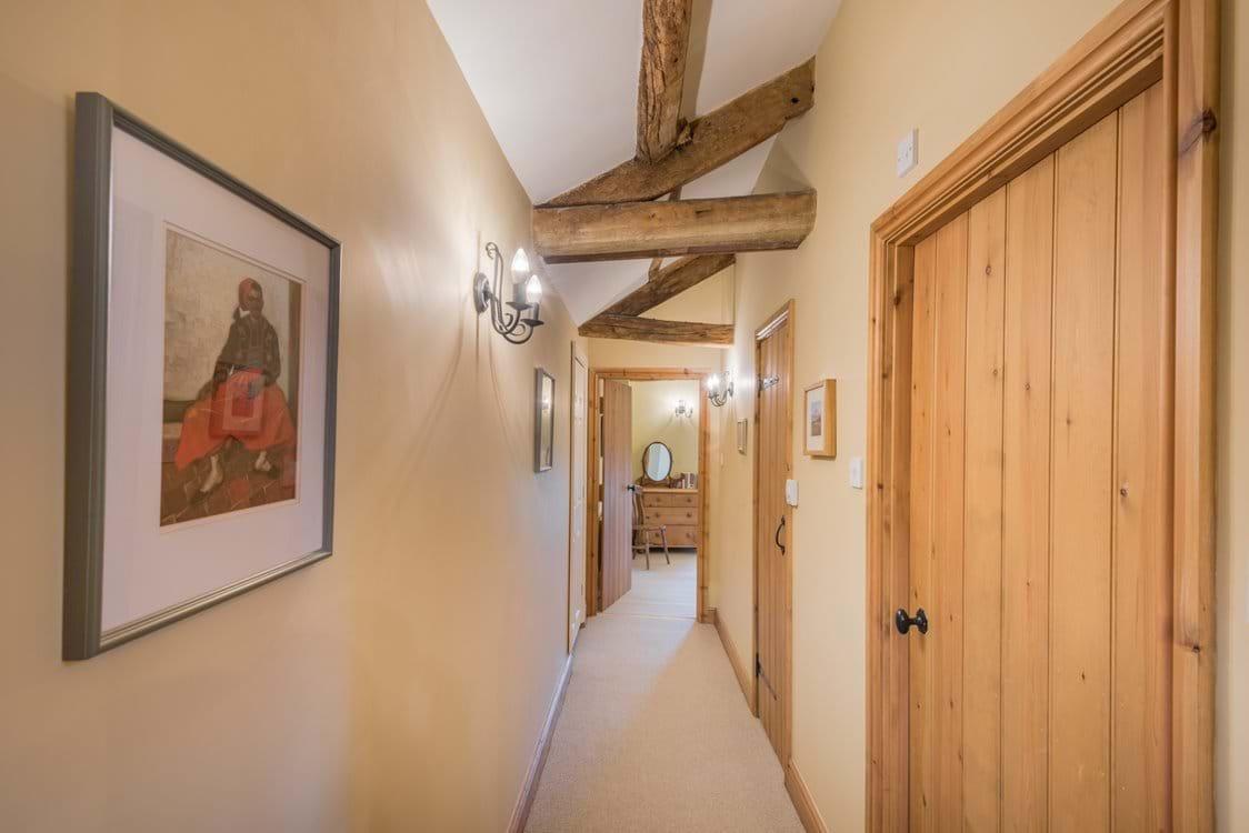 the corridor in the bedroom area