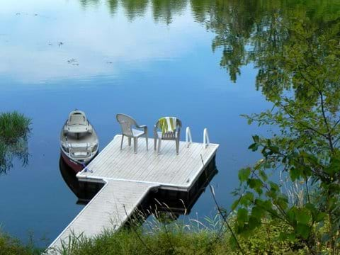 Private dock canoe canoe