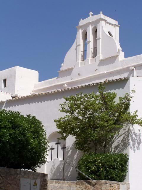The beautiful whitewashed church