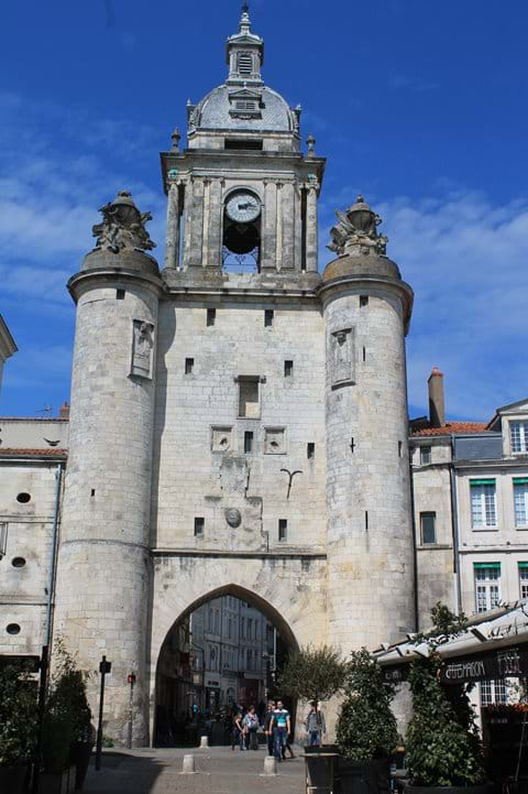 The clock tower in the port of La Rochelle.