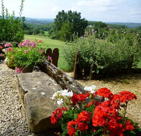 with distant views of the Dordogne valley