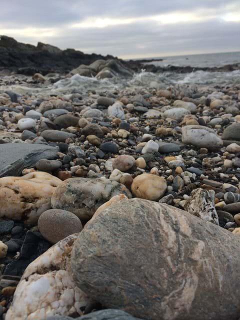 Pebbles on Glen Maye beach