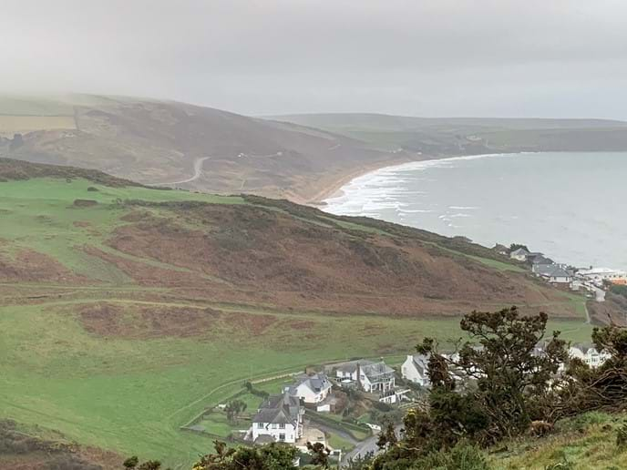 Woolacombe Beach (at high tide)