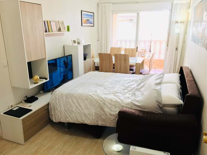 Holiday apartment - living room - sofa bed