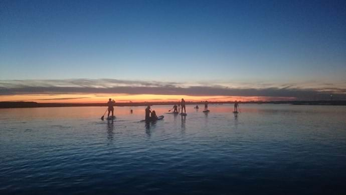 Sunset Paddle Board experience 15 minutes from self catering accommodation, Lymington