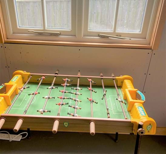 games room has table football