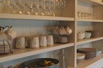 Plenty of crockery and glassware