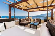 Roof Terrace Seating Area with Panoramic Sea Views