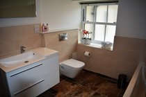 Family bathroom with bath and walk in shower