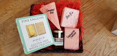 Quarry Cottage Porlock, local gluten free cheese basket