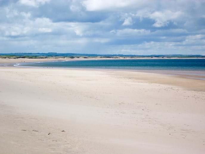 The stunning beach at Druridge Bay is a stone