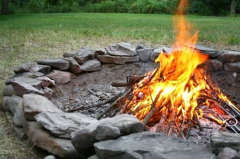 Fire ring infront yard