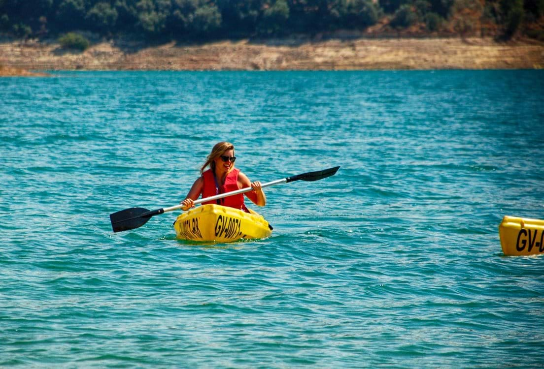Kayaking on  Iznajar Lake