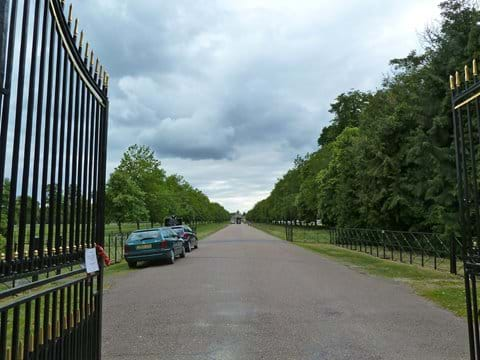 Entrance gate to Blenheim Palace