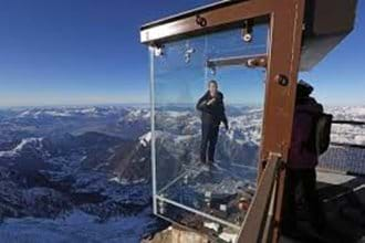 Try the Aiguille Du Midi Skywalk - free with the MBU pass, a vertical drop of over 1000m below your feet - not for the faint hearted!