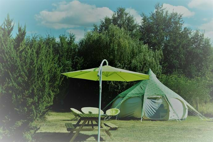 Our Belle Tents have loads of head height
