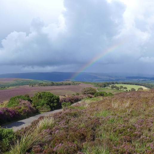 Rainbow on Dunkery Beacon