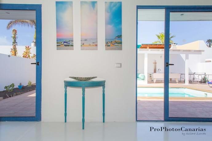sliding doors to the terrace