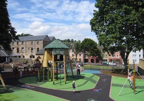 Kids play park in Jedburgh village