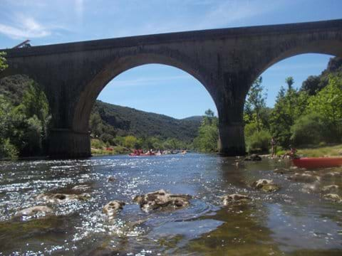 Kayaking down the Herault near Guilhem Le Desert