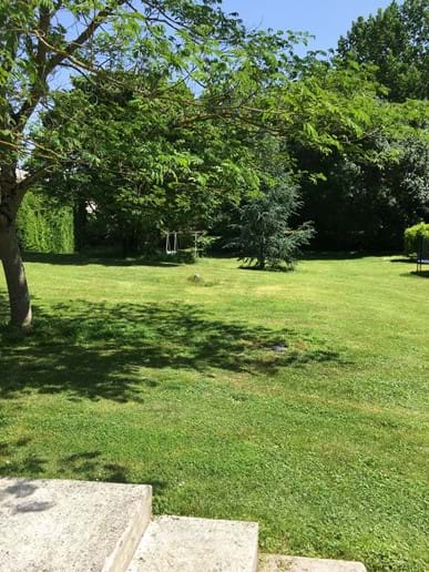 Large garden with private BBQ area