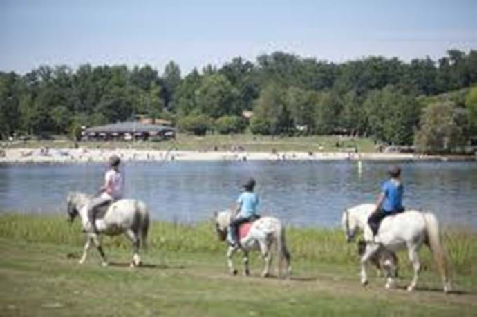 Horseriding at the lakes