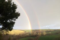 A fantastic double rainbow  seen from  Great Hills Lodge