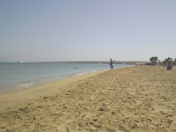 Ladies Mile beach just on the outskirts of Limassol. 30 mins by car from Pissouri Village.