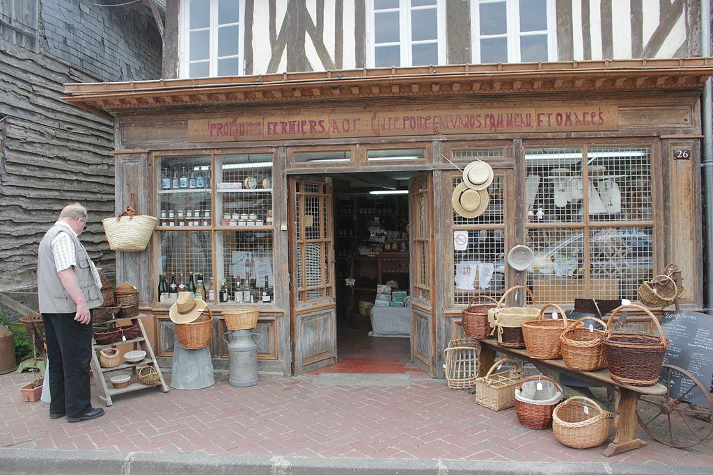 Shop in Beuvron-en-Auge, Normandy, France