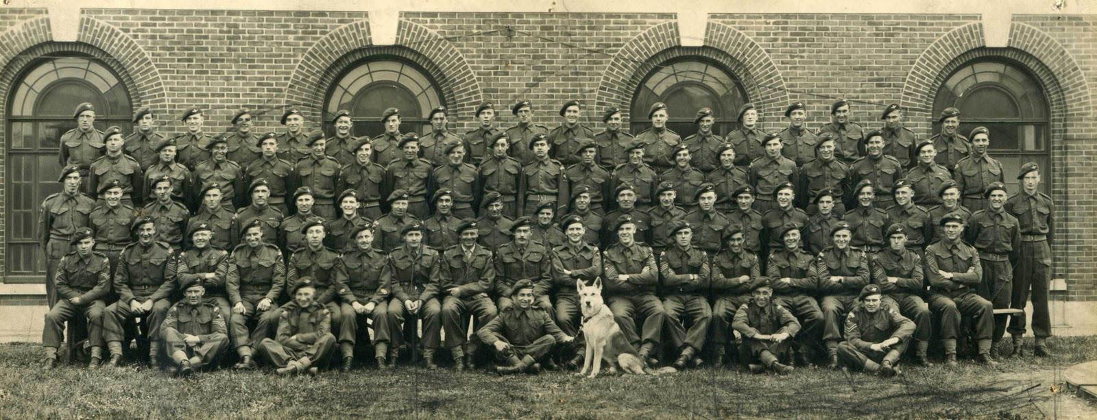 Private Emile Corteil with Glen - company photograph 1944