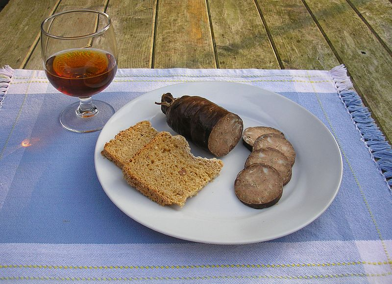 Andouille de Vire and Pommeau
