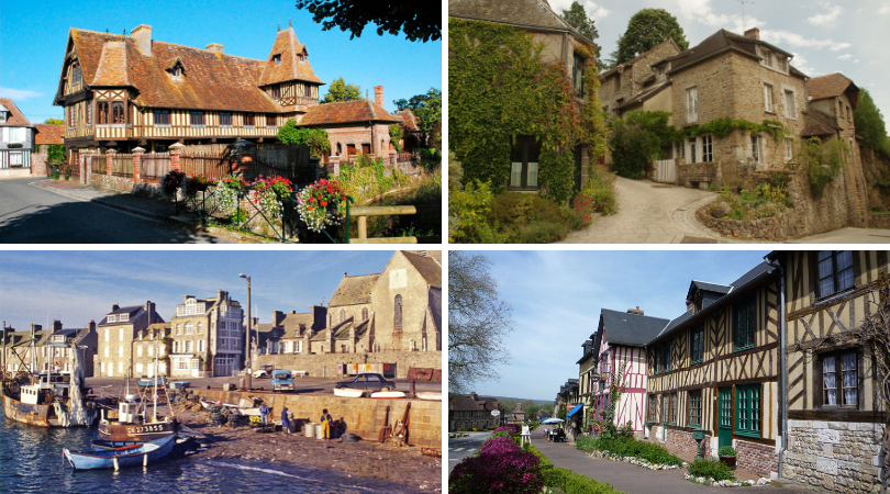 4 of Normandy's Plus Beaux Villages: Beuvron-en-Auge, Barfleur, Saint-Céneri-Le-Gérei and Le Bec-Hellouin