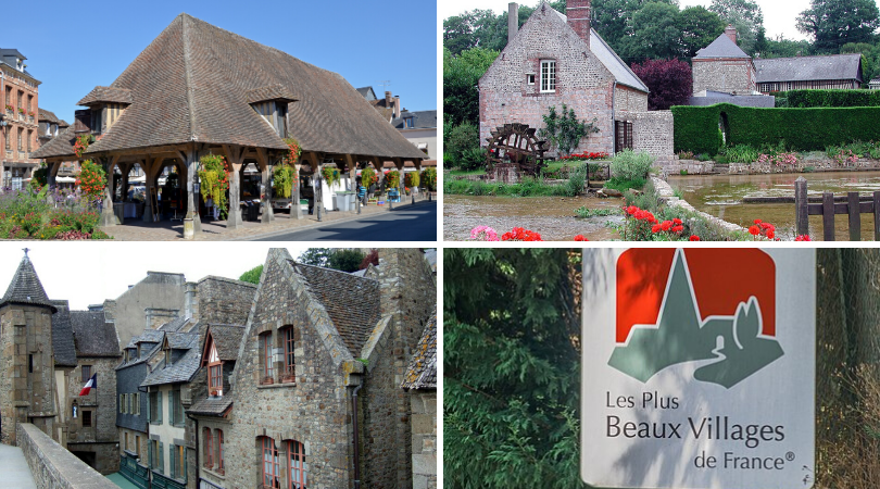 3 of Normandy's plus beaux vilages: Lyons-la-Forêt, Veules-les-Roses and Mont Saint Michel