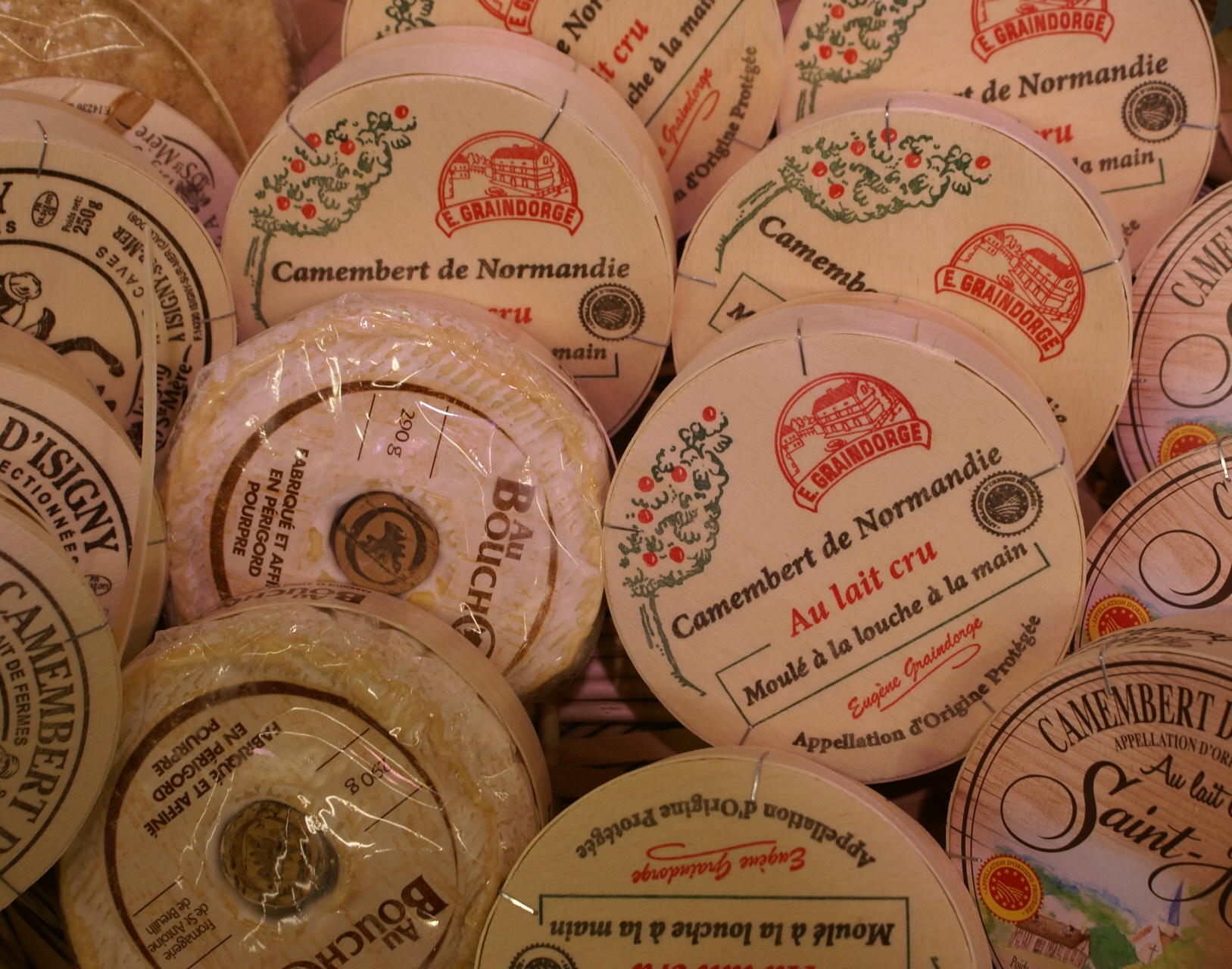 Camembert cheeses