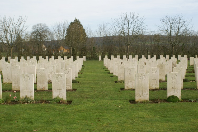 World War 2 cemetery t Saint Charles de Percy, Normandy