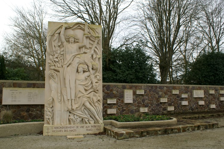 Memorial at Monchamp, Normandy, France to the Resistance Fighters