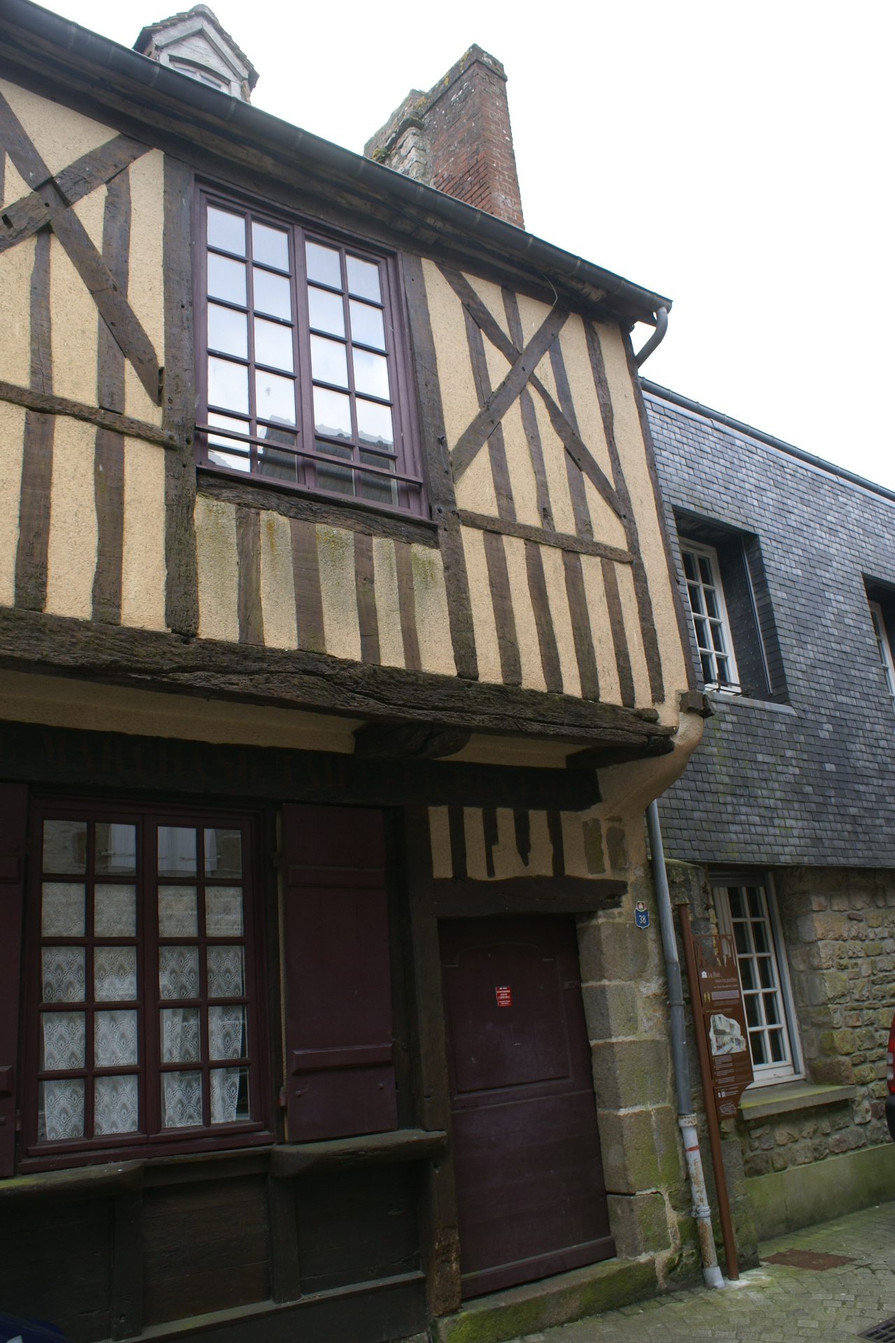 Medieval building at Domfront, Normandy