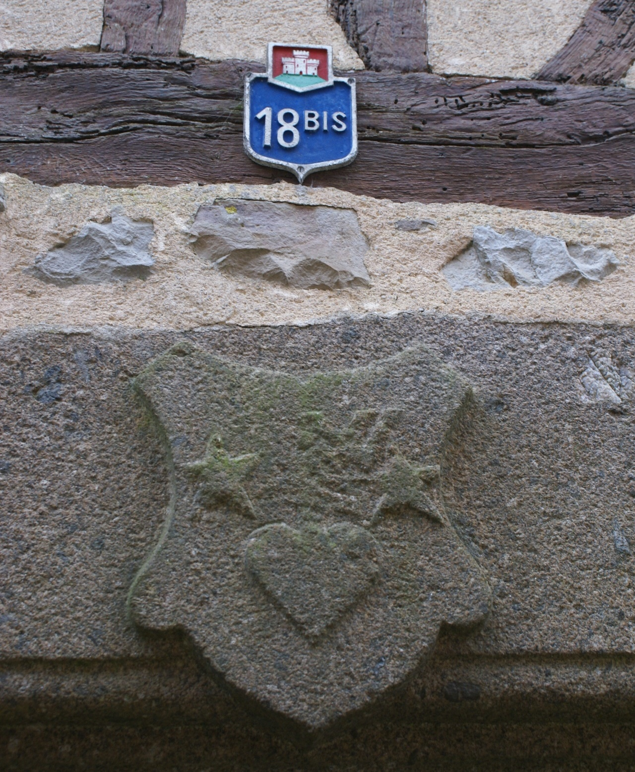 Merieval stone plaque - Domfront, Normandy