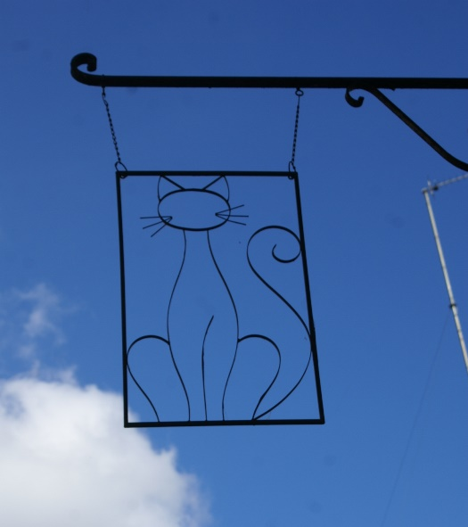 Cat sign in DInan,Brittany
