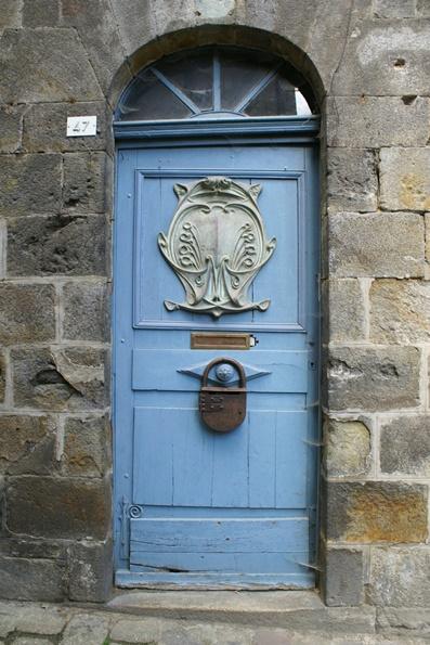 Front door in Dinan.Brittany