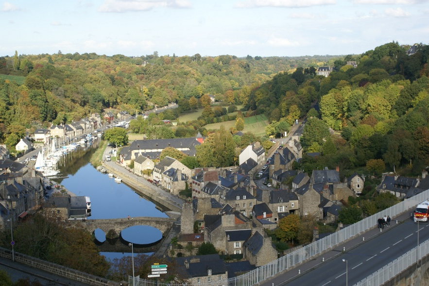 View of Dinan from Le Jardin Anglais