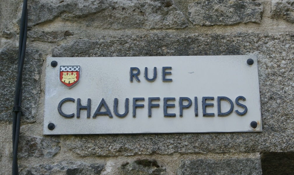 Street name, Dinan, Brittany