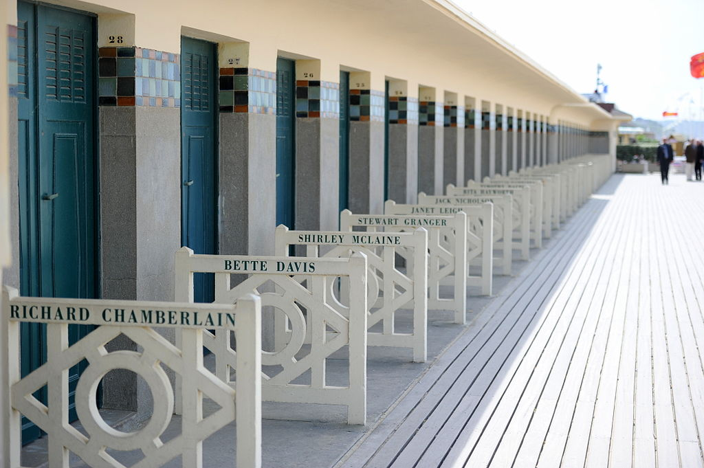 Beach huts at Deauville, Normandy, France