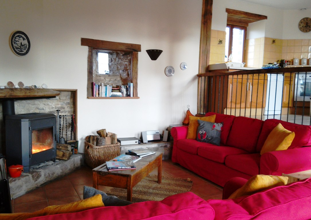 The living room at Eco-Gites of Lenault, a holiday cottage in Normandy