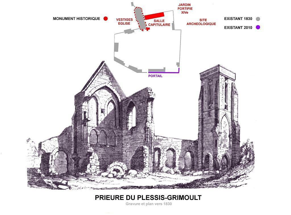 Abbaye Saint-Etienne, Le Plessis-Grimout, Normandy