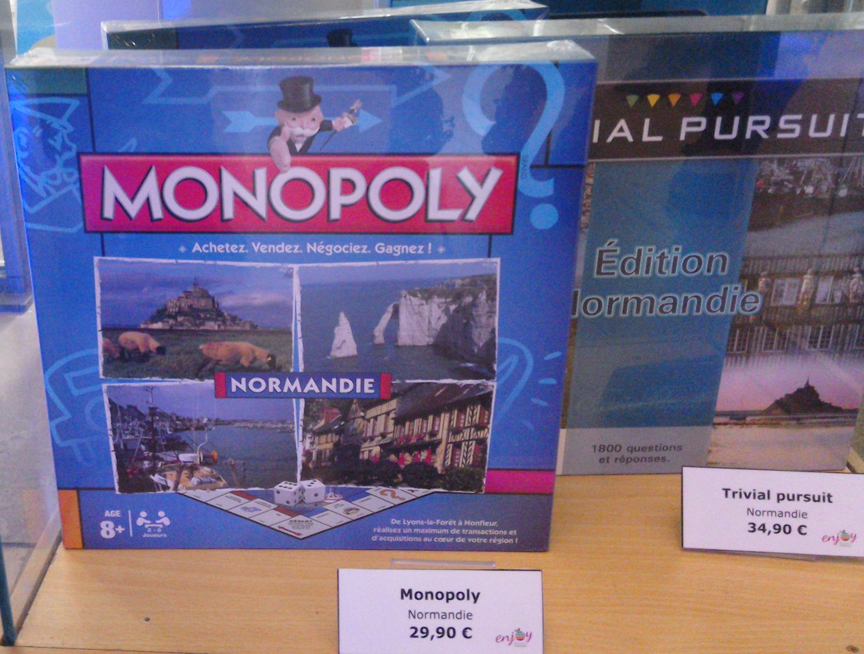 Monopoly and Trivial Pursuit, Normandy style