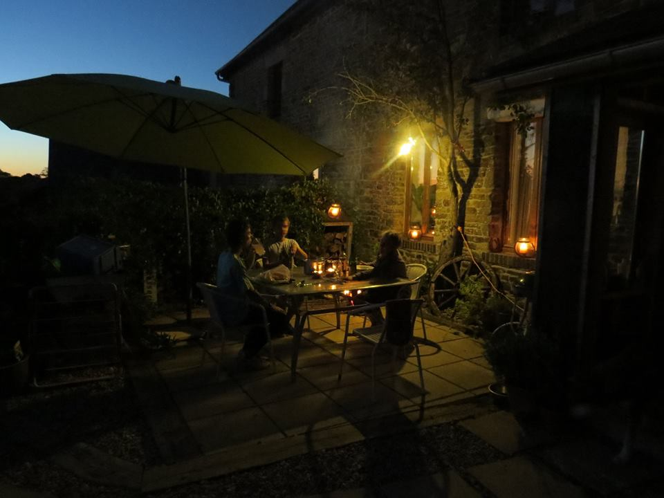 DInner in our Normandy garden in late September