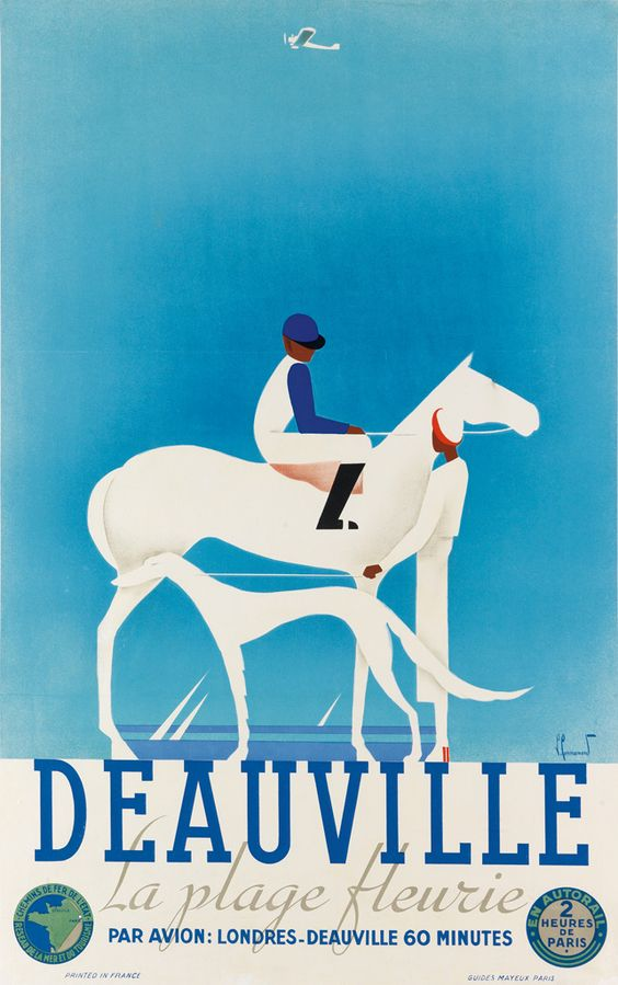 Vintage poster of Deauville, Normandy
