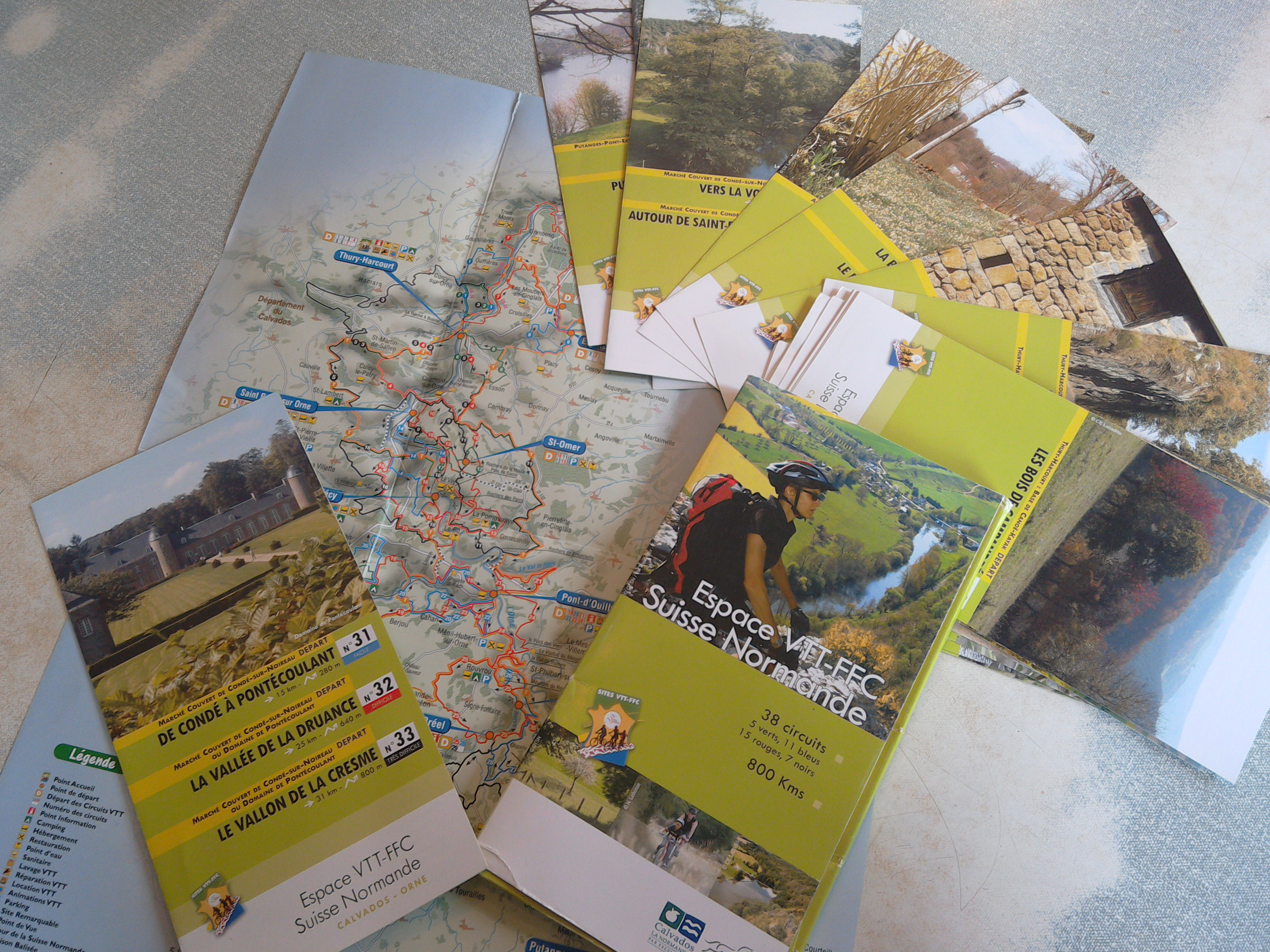 Swiss Normandy cycling leaflets - Espace VTT-FFC Suisse Normande